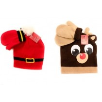 Christmas Kid's Hat & Mittens