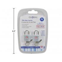 Luggage / Travel Key Lock - TSA Approved ~ 2 per pack