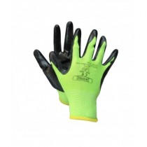 Nitrile Glove w/Knitted Back - High Visibility