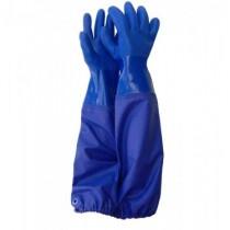 PVC Unlined Gloves w/Sleeve ~ Blue