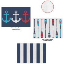 Textilene Printed Placemats - Boathouse ~ 3 assorted