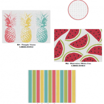 Textilene Printed Placemats - Tropical ~ 3 assorted