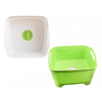 Wash & Drain Plastic Dish Bucket