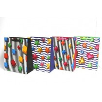 Large Gift Bags ~ Bright Shapes