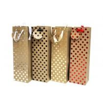 Bottle Gift Bag ~ Foil Dots