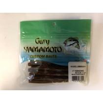 "Gary Yamamoto 4"" YamaSenko ~ Smoke Rootbeer w/Green & Copper Flakes"