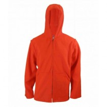 Fl. Orange Polar Fleece Jacket w/Hood