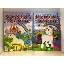 Unicorn World Coloring Book