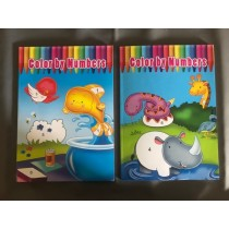 Color By Number Coloring Books