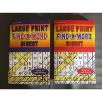 Large Print Find-A-Word Puzzle Books ~ Digest Size
