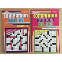 Fill-Ins Puzzle Books ~ Number & Word