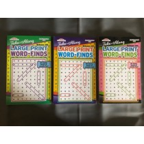 Large Print Word Find Puzzle Books ~ Digest Size