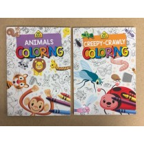 Animals / Creepy Crawlies Coloring Book