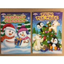 Christmas Jumbo Coloring Books ~ 2 asst