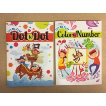 Dot to Dot / Color By Number Coloring Book