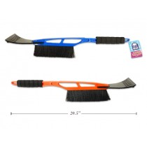 "Plastic Snow Brush with Ice Scraper & Foam Handle ~ 20.5""L"