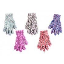 Ladies 4-Color Mixed Cozy Gloves