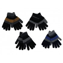 Men's Tri-Colored Knitted Gloves
