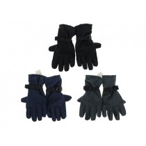 Men's PVC Dot Lined Winter Gloves with Adjustable Strap at Wrist