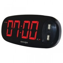 Digital Alarm Clock with 2 x 2AMP USB Charge Ports