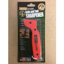 AccuSharp Knife & Tool Sharpener ~ Fluorescent Orange