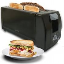 Long 4-Slice Toaster ~ Black