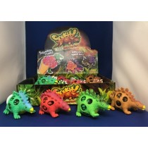 Dinosaur Squishy Mesh Ball ~ 12 per display