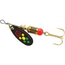 Mepps Black Fury Lures ~ Hot Firetiger Dots