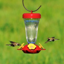 Perky-Pet Yellow Flower Top Fill Plastic Hummingbird Feeder