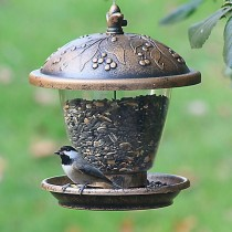 Perky-Pet Guilded Chalet Bird Seed Feeder