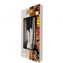Premium BBQ Kit with Heat Shield Handles ~ 4 piece set