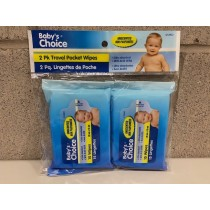 Baby's Choice Unscented Travel Wipes - 15 per pack ~ 2 packages