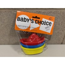 Baby's Choice Bath Boats ~ 3 per pack