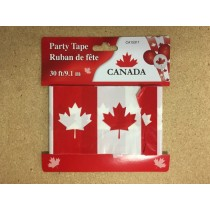 Canada Party Tape ~ 30' / 9.1M
