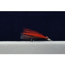Clouser Minnow Flies - Size 4 ~ Orange / Black