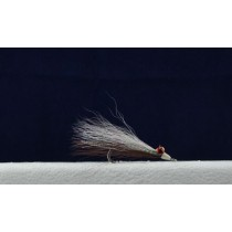 Clouser Minnow Flies - Size 2 ~ Brown / White