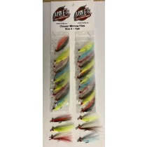 Clouser Minnow Flies - Size 2 ~ 24 per card