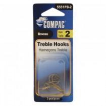 Compac Bronze Treble Hooks