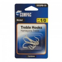 Compac Nickel Treble Hooks