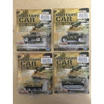 Die-Cast Military Vehicles ~ 4 assorted