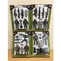 Soilder Action Figure Play Set ~ 4 assorted