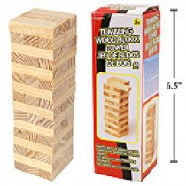 Tumbling Wood Block Tower ~ 48 pieces