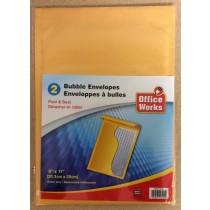 "Kraft Bubble Envelopes 8"" x 11"" - Peel N Seal ~ 2 per pack"