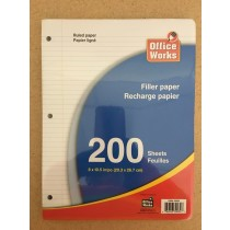 Ruled Filler Paper ~ 200 Sheets