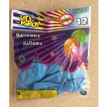 "12"" Round Balloons - Light Blue ~ 12 per pack"