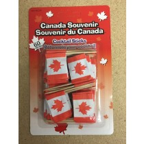 Canada Flag Cocktail Sticks ~ 60 per pack