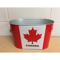 "Canada Metal Party Ice Bucket ~ 13"" x 8"""