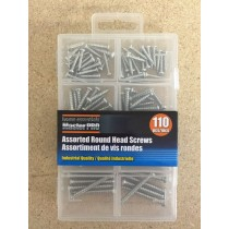 Roundhead Screw Assortment ~ 110 pieces