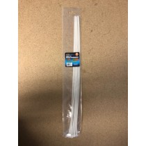"Cable Ties - White ~ 4.8mm x 20"" ~ 8/pk"