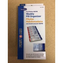 Weekly Pill Organizer with Push Button Easy Open ~ 7 Days AM / PM